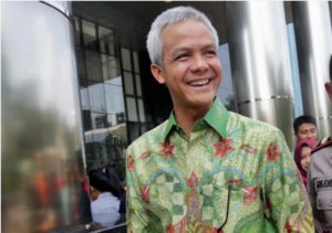 Central Java Governor Ganjar Pranowo is faring well in opinion polls. Image: Facebook